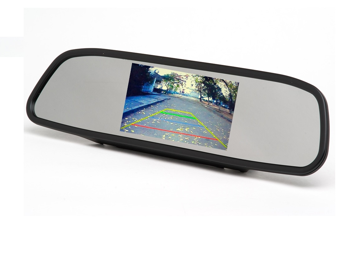 7 tft color lcd car monitor high resolution rearview monitor for reverse camera 2-way video input sunvisor monitors